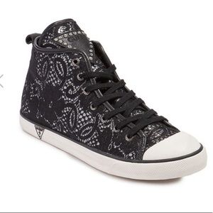 Guess Lace High Top Sneakers